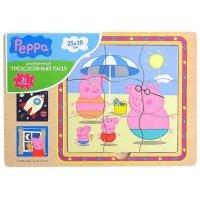 Деревянный пазл Peppa Pig Добрый мир Пеппы (24451)