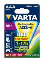 Аккумулятор VARTA TOYS ACCU AAA 800mAh BLI 2 NI-MH (56783101402)