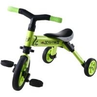 Складной трёхколёсный велосипед TCV 2в1 зеленый (T701 (G)