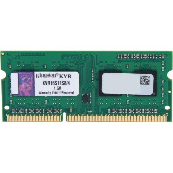 Купить Память для ноутбука Kingston DDR3 1600 4GB 1.5V (KVR16S11S8/4)