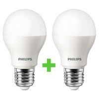 Комплект ламп светодиодных Philips LEDBulb E27 10.5-85W 3000K 230V A55 (1+1) (8727900270105)