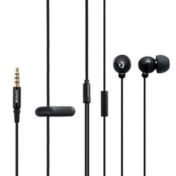 Гарнитура проводная CAPDASE Hands-free Earphone EP35 STEREO Black for iPad/iPhone/iPod фото 1