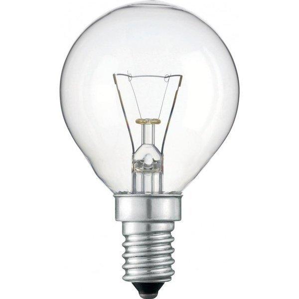 Лампа накаливания Philips E14 60W 230V P45 CL 1CT/10X10F Stan (926000005022) фото