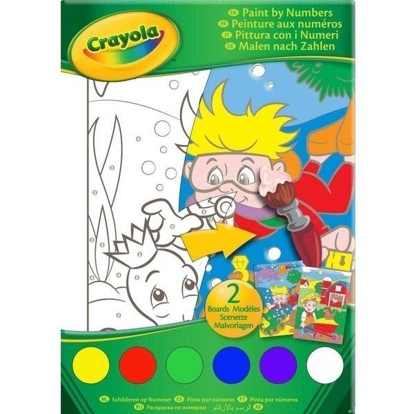 Книга-раскраска Crayola по номерам с красками (10721 ...