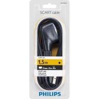 Кабель SCART Philips (M/M) 1.5м, Black
