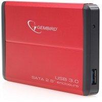 "Корпус для 2.5"" HDD/SSD Gembird External Box EE2-U3S-2-R aluminium USB3.0"
