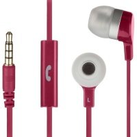 Наушники KitSound Entry Mini mic pink