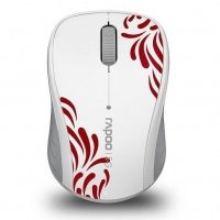 Мышь RAPOO 3100р wireless, белая (57663)