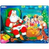 Пазл-вкладыш Larsen Дед Мороз с детьми (JUL14)