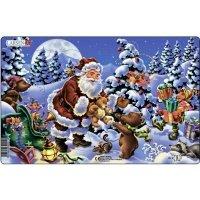 Пазл-вкладыш Larsen Дед Мороз с подарками (XC1-1)