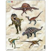 Пазл-вкладыш Larsen Динозавры (X12)