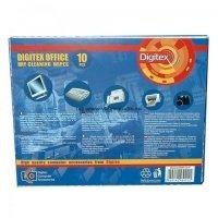 Засоби для догляду за оргтехнікою DIGITEX Office Dry lint free wipes (для будь-якого типу поверхні, 10 шт.)