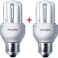 Комплект ламп энергосберегающих Philips E27 8W 220-240V 2700K Genie (1+1)