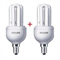 Комплект ламп енергозберігаючих Philips E14 11W 220-240V 2700K Genie (1+1)