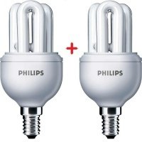 Комплект ламп энергосберегающих Philips E14 8W 220-240V 2700K Genie (1+1)
