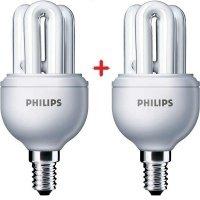 Комплект ламп енергозберігаючих Philips E14 8W 220-240V 2700K Genie (1+1)