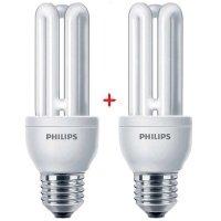 Комплект ламп енергозберігаючих Philips E27 14W 220-240V 2700K Genie (1+1)