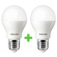 Комплект ламп светодиодных Philips LEDBulb E27 4-40W 6500K 230V A55 (1+1)