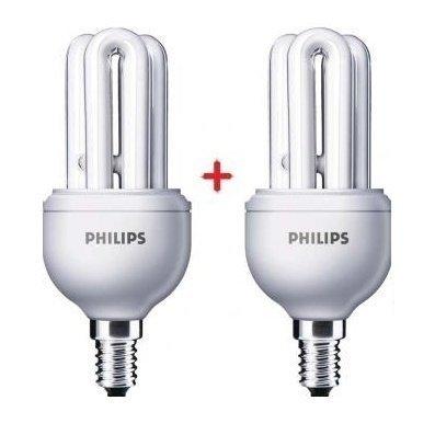 Комплект ламп энергосберегающих Philips E14 11W 220-240V 6500K Genie (1+1) фото