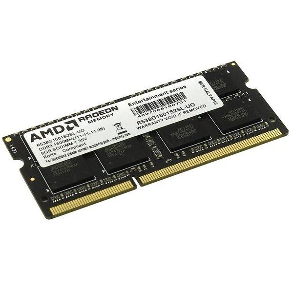 Купить Память для ноутбука AMD DDR3 1600 8GB BULK 1.35V (R538G1601S2SL-UOBULK)