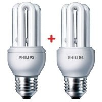 Комплект ламп энергосберегающих Philips E27 11W 220-240V 6500K Genie (1+1)