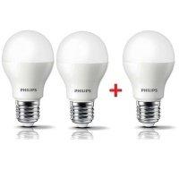 Комплект ламп светодиодных Philips LEDBulb E27 7-60W 6500K 230V A55 (2+1)