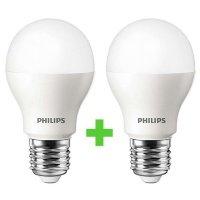Комплект ламп светодиодных Philips LEDBulb E27 10.5-85W 6500K 230V A55 (1+1)