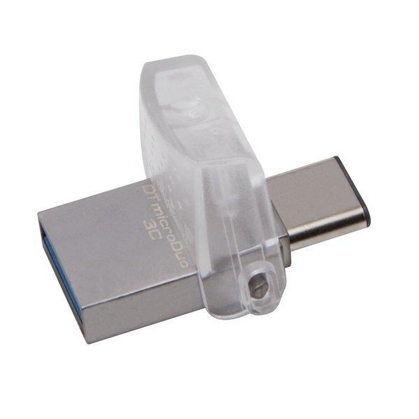 Накопичувач USB 3.1 KINGSTON Type-CDT Micro 64GB Metal Silver (DTDUO3C/64GB) фото1
