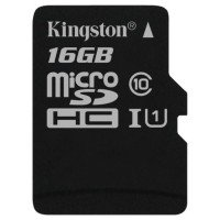 Карта памяти Kingston microSDHC 16GB Class 10 UHS-I R50/W10MB/s