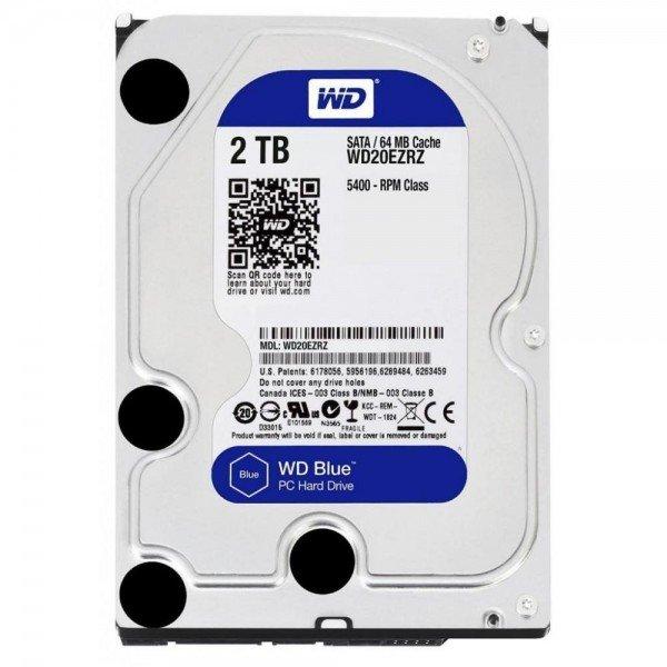 Купить Жесткий диск внутренний WD 3.5 SATA 3.0 2TB 5400rpm 64MB Blue (WD20EZRZ)