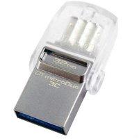 Накопитель USB 3.1 KINGSTON Type-C DT Micro 32GB Metal Silver (DTDUO3C/32GB)