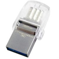 Накопичувач USB 3.1 KINGSTON Type-C DT Micro 32GB Metal Silver (DTDUO3C/32GB)