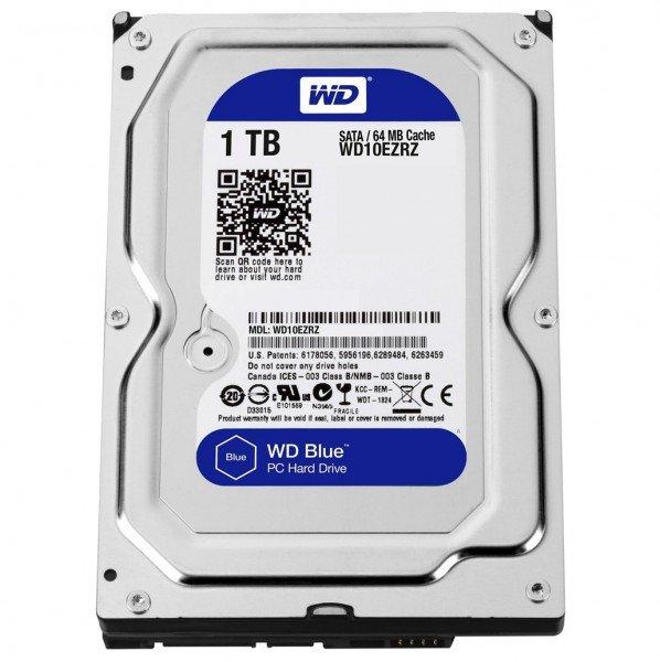 Купить Жесткий диск внутренний WD 3.5 SATA 3.0 1TB 5400rpm 64MB Blue (WD10EZRZ)