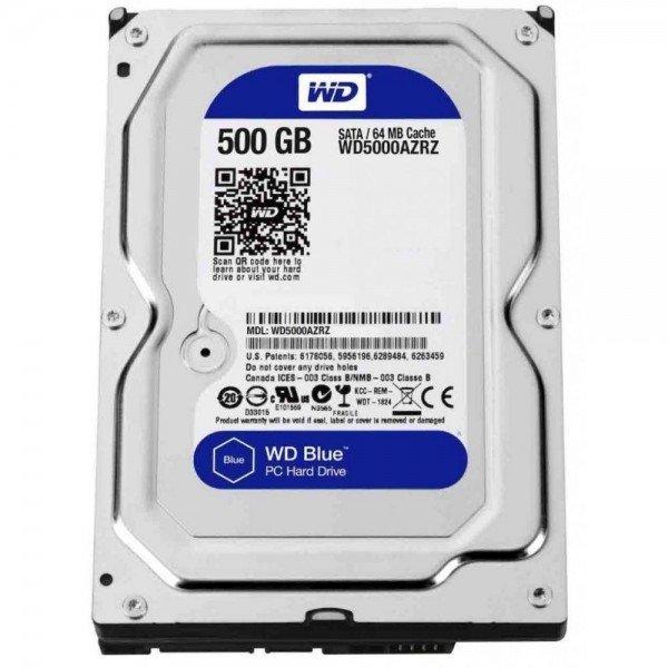 Жесткий диск внутренний WD 3.5 SATA 3.0 0.5TB 5400rpm 64MB Blue (WD5000AZRZ)  - купить со скидкой