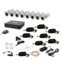 Комплект видеонаблюдения Tecsar AHD 8OUT LUX