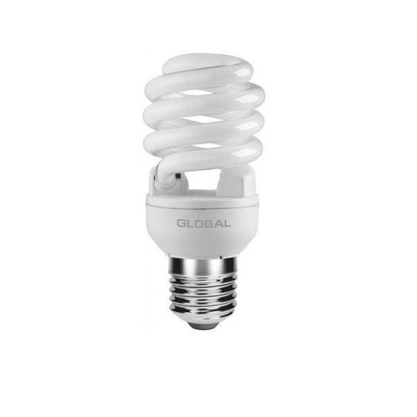Энергосберигающая лампа GLOBAL T2 Full spiral 15W, 2700K, E14 GLF (GFL-031-1) (GFL-031-1) фото