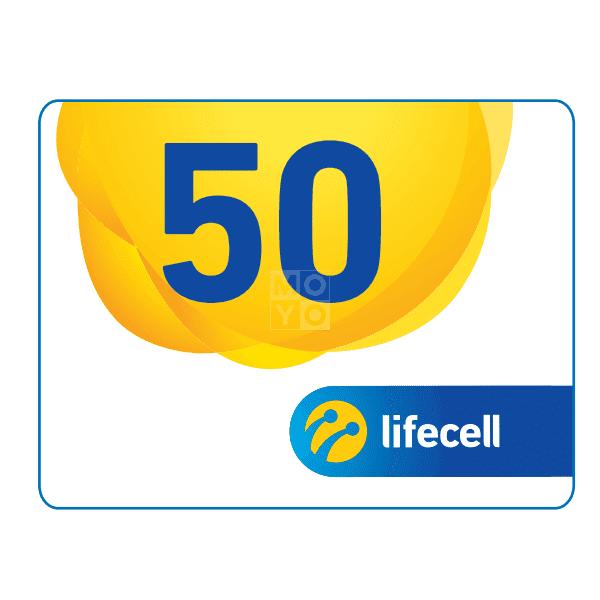 Ваучер lifecell 50грн. фото