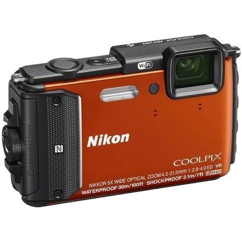 ≡ Фотоапарат NIKON Coolpix AW140 Orange (VNA842E1) – купити в Києві ... 7121ea33c28ed