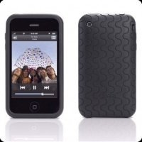 Чехол к iPod GEAR4 touch 2G силиконовый JumpSuit Grip (black&grey)