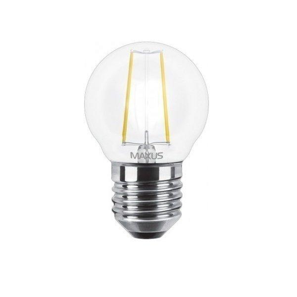 Филаментная лампа MAXUS, E27, G45, 4W, мягкий свет (1-LED-545) фото