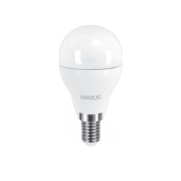 Светодиодная лампа MAXUS G45 6W мягкий свет 220V E27 (1-LED-541) фото 1