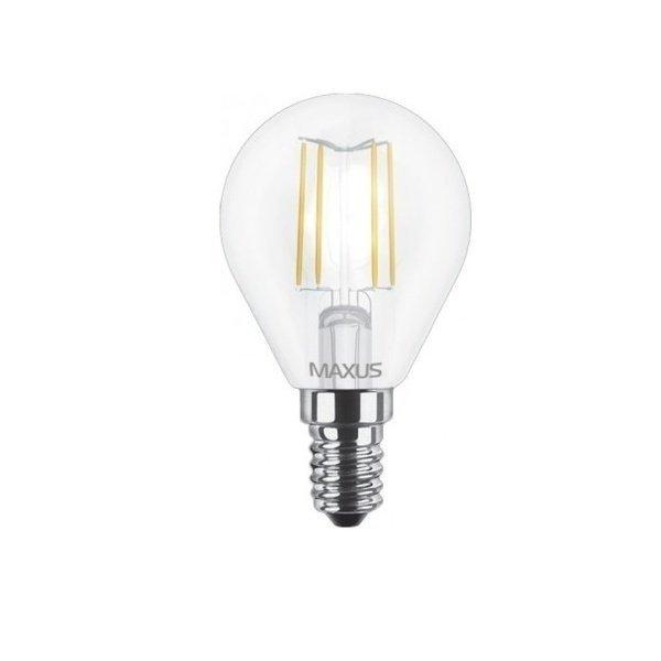 Филаментная лампа MAXUS, E14, G45, 4W, яргкий свет (1-LED-548) фото