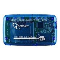 Кардридер Gembird USB все-в-одному FD2-ALLIN1 (0907036)