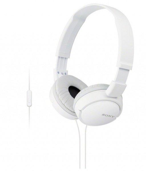 Купить Наушники Sony MDR-ZX110 mic White