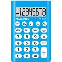 Калькулятор электронный Assistant 8-разрядный (AC-1116 blue)