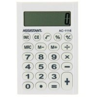 Калькулятор электронный Assistant 8-разрядный (AC-1116 white)