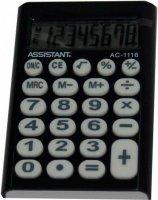 Калькулятор электронный Assistant 8-разрядный (AC-1116 black)