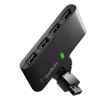 USB Хаб Belkin USB 2.0, Swivel Hub пассивный, Black (4 порта)