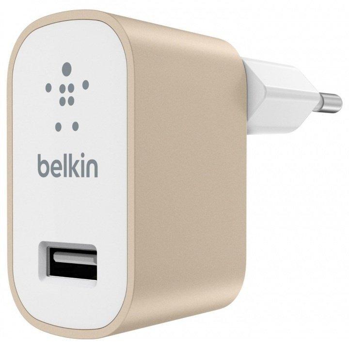Сетевое зарядное устройство Belkin Mixit Premium 2.4A Gold фото 1