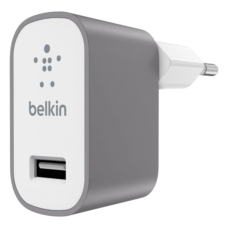 Мережевий зарядний пристрій Belkin Mixit Premium 2.4A Grayфото1